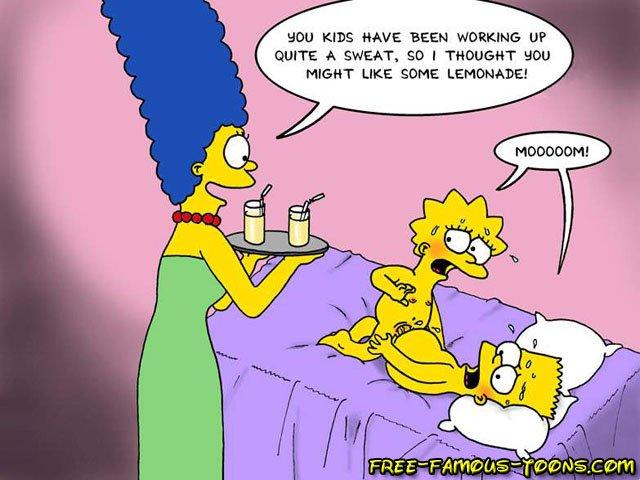 Simpsons family porn clip
